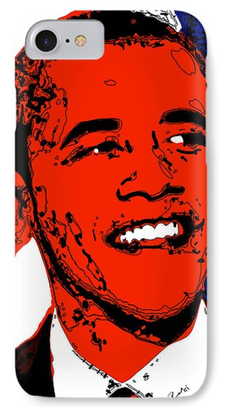 IPhone Case featuring the digital art Obama Hope by Rabi Khan