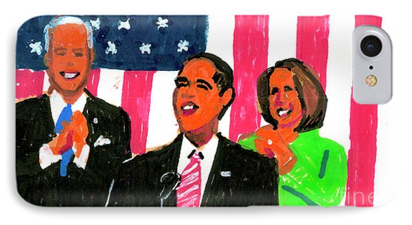 Obama's State Of The Union '10 IPhone Case by Candace Lovely