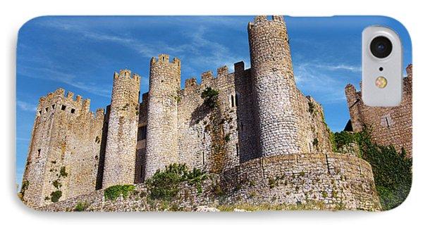 Obidos Castle IPhone Case by Carlos Caetano