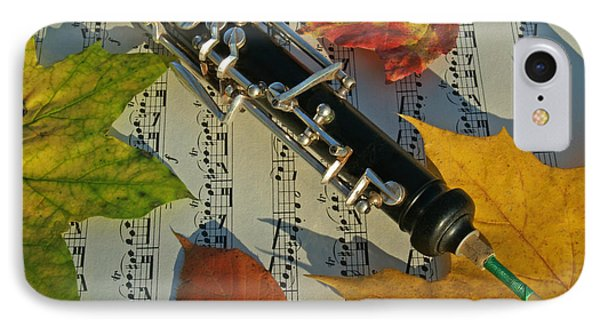 Oboe And Sheet Music On Autumn Afternoon IPhone Case