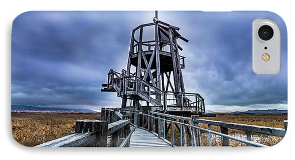 IPhone Case featuring the photograph Observation Tower - Great Salt Lake Shorelands Preserve by Gary Whitton