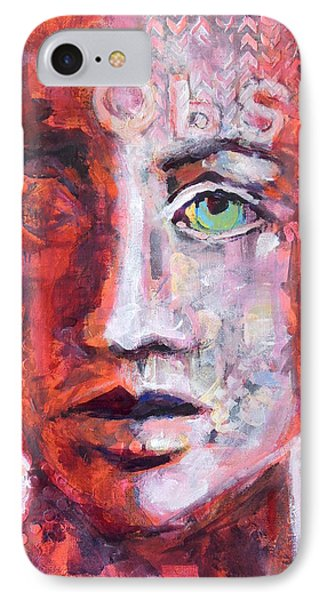 IPhone Case featuring the painting Observe by Mary Schiros