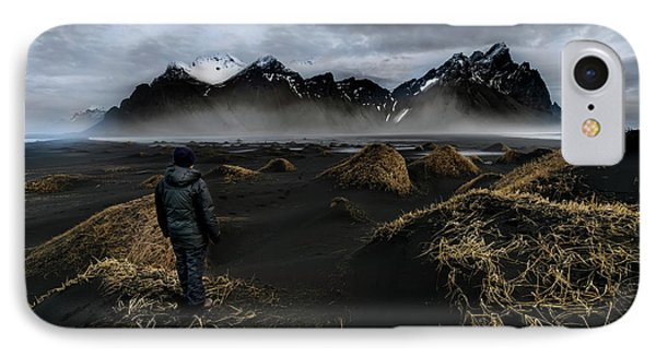 Observing The Beauty Of Iceland IPhone Case by Larry Marshall