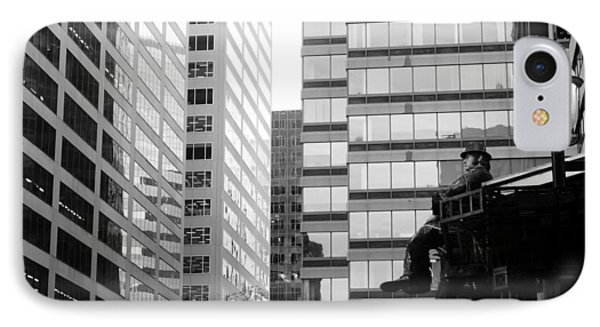 IPhone Case featuring the photograph Observing The City by Valentino Visentini