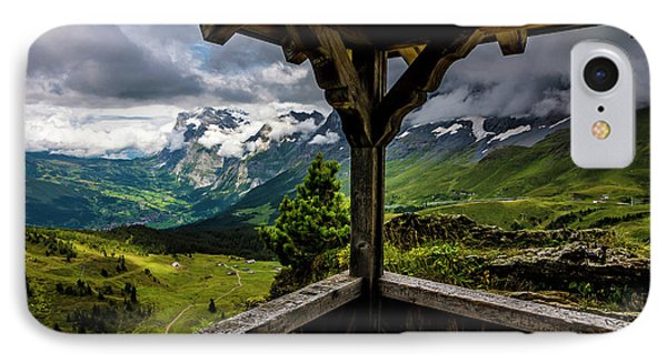 Observing The Grindelwald Valley And Swiss Alps IPhone Case