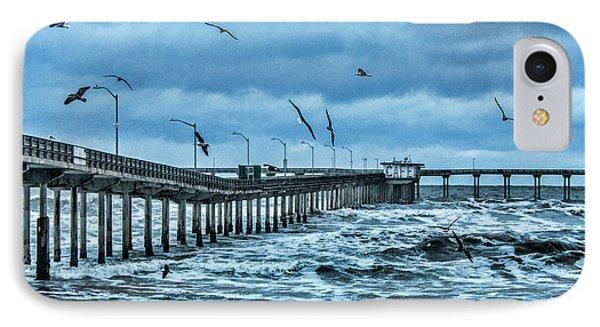 Ocean Beach Fishing Pier IPhone Case