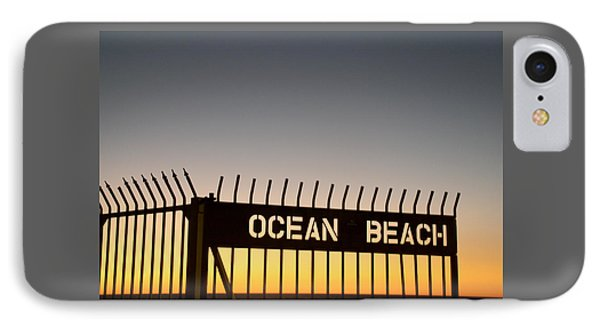 Ocean Beach Pier Gate IPhone Case by Christopher Woods