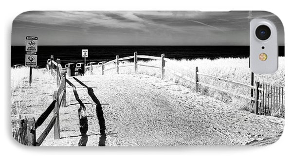 Ocean City Beach Entry IPhone Case by John Rizzuto