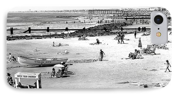Ocean City Beach IPhone Case by John Rizzuto