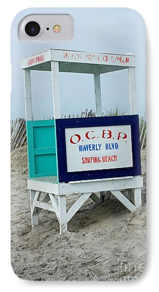 Ocean City Beach Scene IPhone Case by Denise Pohl