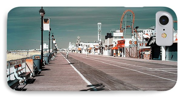 Ocean City Boardwalk Blues IPhone Case by John Rizzuto