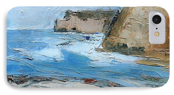IPhone Case featuring the painting Ocean Cliffs by Gary Coleman