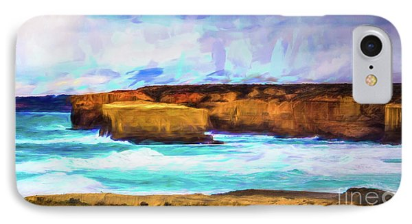 IPhone Case featuring the photograph Ocean Cliffs by Perry Webster