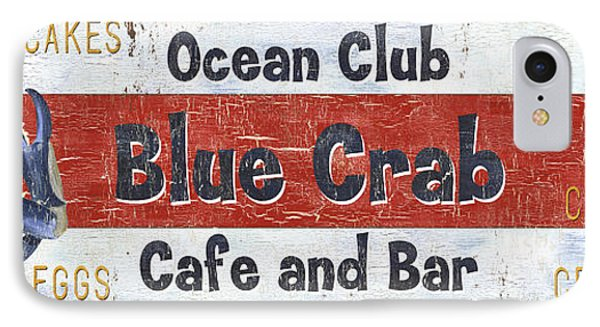 Ocean Club Cafe IPhone 7 Case by Debbie DeWitt