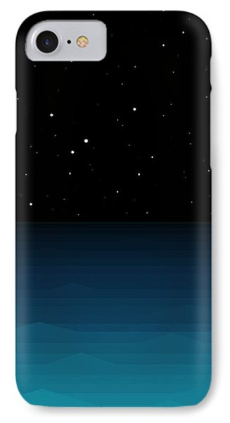 Ocean - Elements - Starry Night IPhone Case by Val Arie