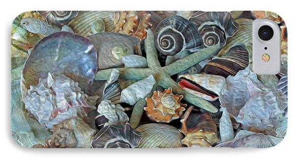 Ocean Gems 5 IPhone Case by Lynda Lehmann