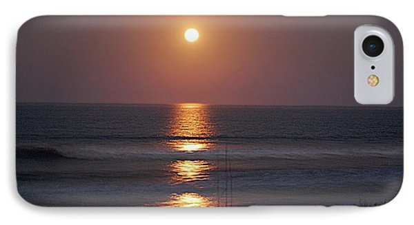 Ocean Moon In Pastels IPhone Case by DigiArt Diaries by Vicky B Fuller