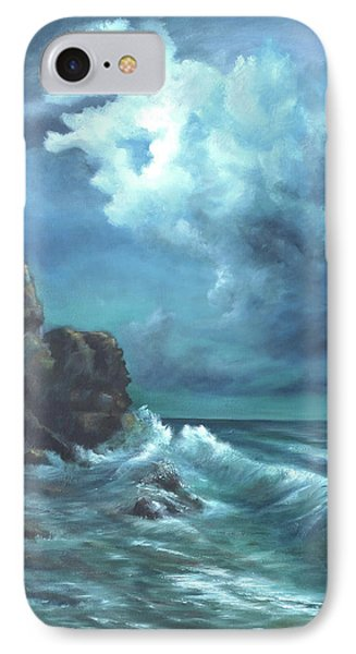 Seascape And Moonlight An Ocean Scene IPhone Case