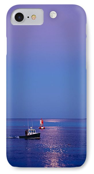 Ocean Moonrise IPhone Case by Steve Gadomski