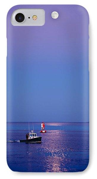 Ocean Moonrise Phone Case by Steve Gadomski