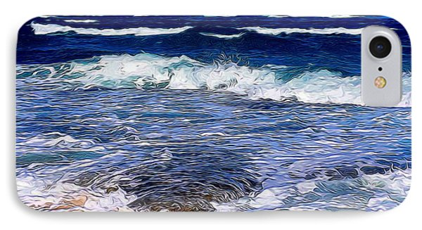 Ocean Scene In Abstract 14 IPhone Case