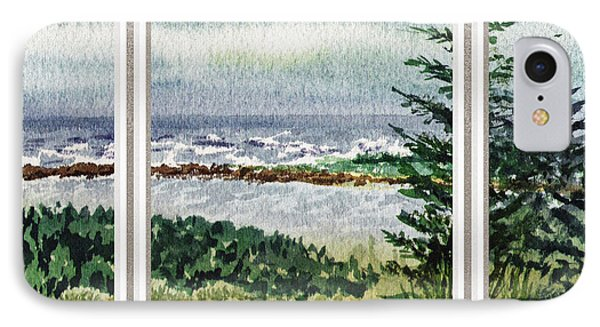 Ocean Shore Window View IPhone Case by Irina Sztukowski