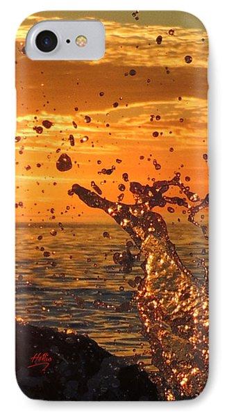 Ocean Splash IPhone Case by L Hollis
