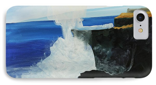 Ocean Spray At Blowhole Phone Case by Katie OBrien - Printscapes