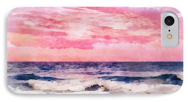 IPhone Case featuring the digital art Ocean Sunrise by Francesa Miller