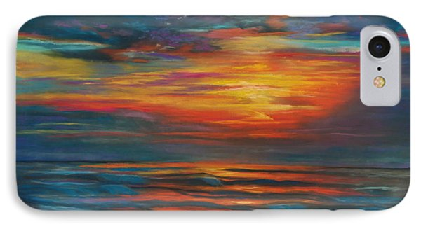 IPhone Case featuring the pastel Ocean Sunrise by Karen Kennedy Chatham