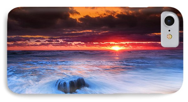 Ocean Sunrise March 30 2017 IPhone Case by Dapixara Art