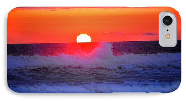 IPhone Case featuring the photograph Ocean Sunset by Jerry Cahill