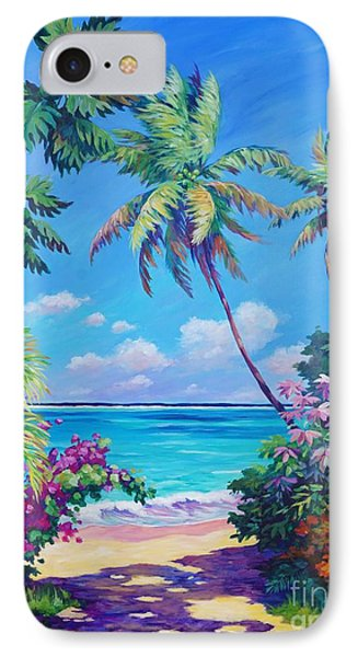 Ocean View With Breadfruit Tree IPhone 7 Case by John Clark