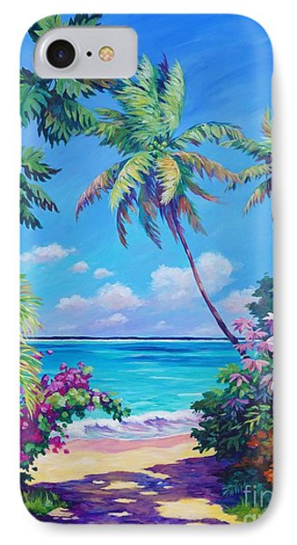Beach iPhone 7 Case - Ocean View With Breadfruit Tree by John Clark