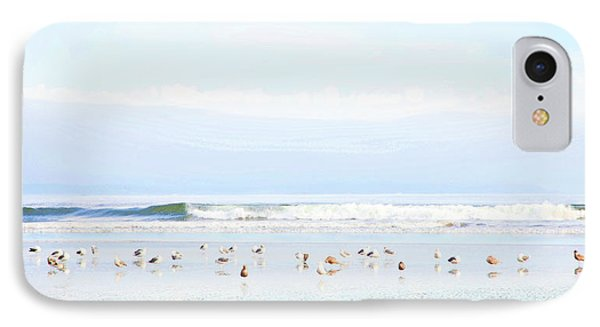 Ocean View With Seagulls IPhone Case by Theresa Tahara