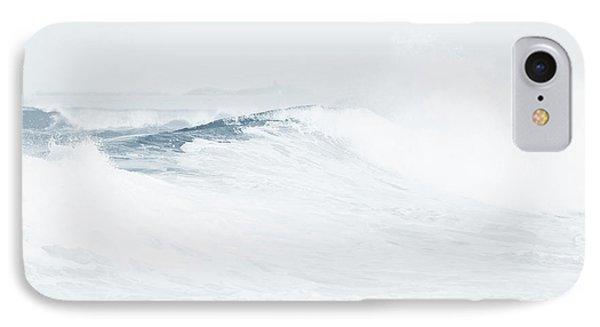 IPhone Case featuring the photograph Ocean Wave. Series Ethereal Blue by Jenny Rainbow