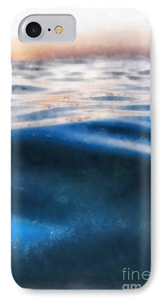 IPhone Case featuring the painting Ocean Waves by Edward Fielding