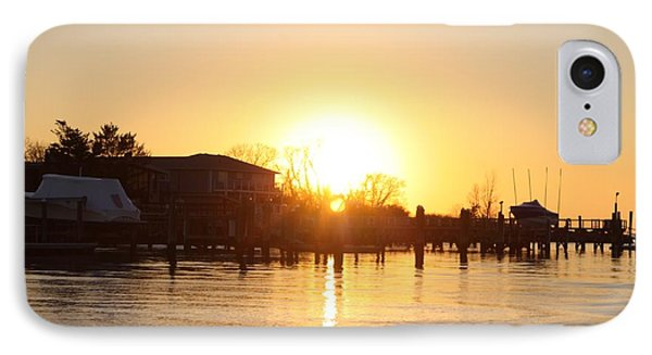 Oceanside Ny Spring Sunset After Fishing IPhone Case