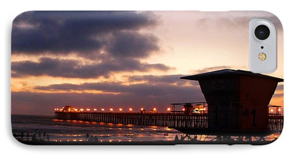 IPhone Case featuring the photograph Oceanside Pier by Christopher Woods