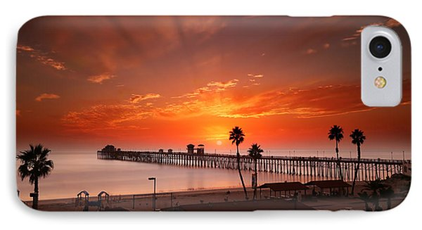 Oceanside Sunset 9 IPhone Case by Larry Marshall