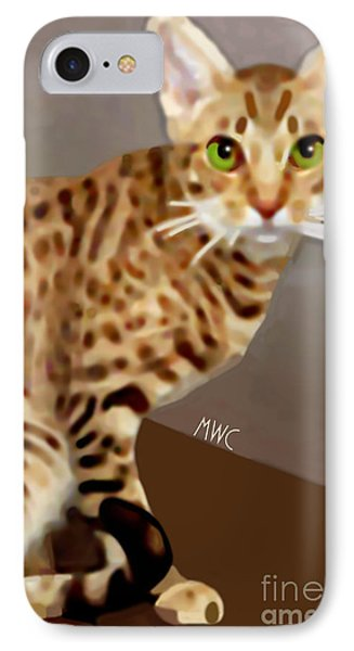 Ocicat Phone Case by Marian Cates