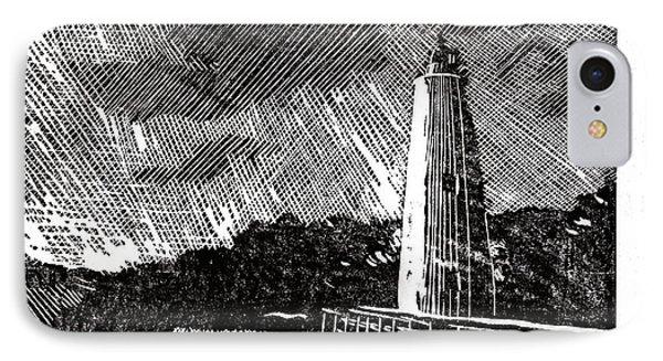 Ocracoke Island Lighthouse II IPhone Case by Ryan Fox