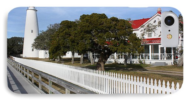 Ocracoke Lighthouse IPhone Case by Tony Cooper