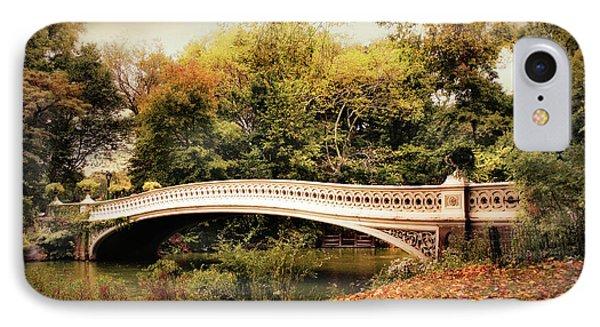 October At Bow Bridge IPhone Case