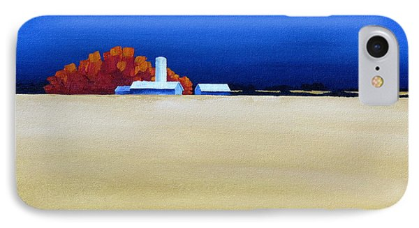 IPhone Case featuring the painting October Fields by Jo Appleby