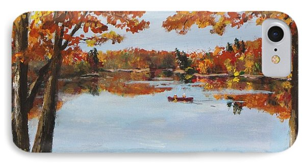 October Morn At Walden Pond IPhone Case by Jack Skinner