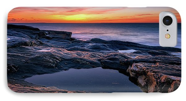 October Sky At Pemaquid Point IPhone Case by Rick Berk