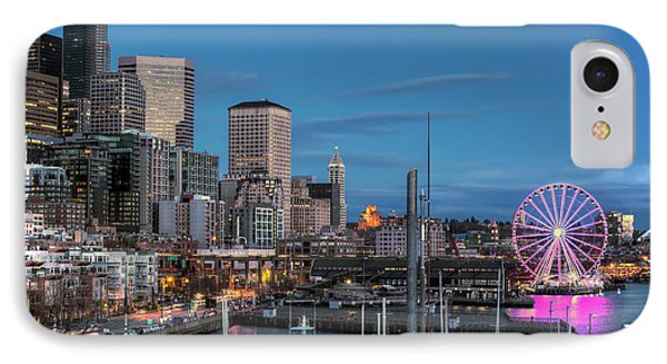 October Twilight Seattle Waterfront IPhone Case