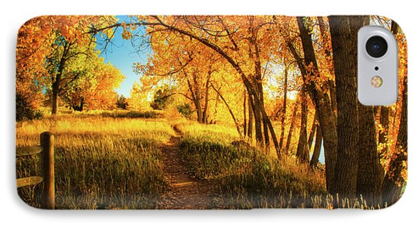 IPhone Case featuring the photograph October's Light by John De Bord