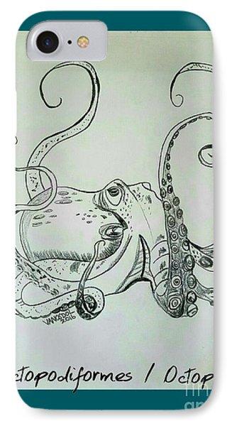 Octopodiformes Octopus IPhone Case by Scott D Van Osdol